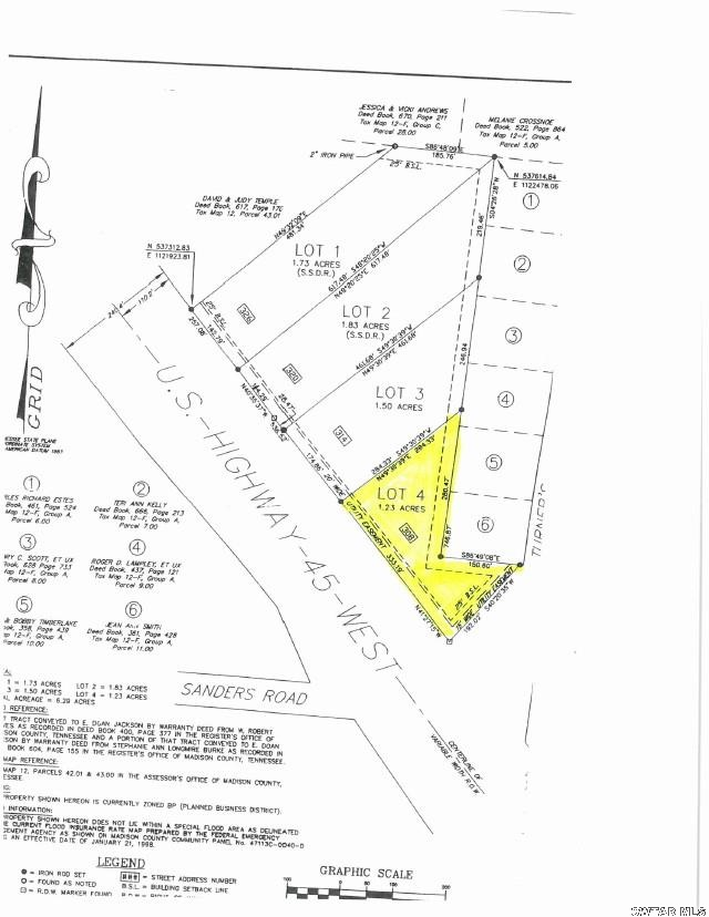 308 W Highway 45,Three Way,Tennessee 38343,Lots/land,308 W Highway 45,164583