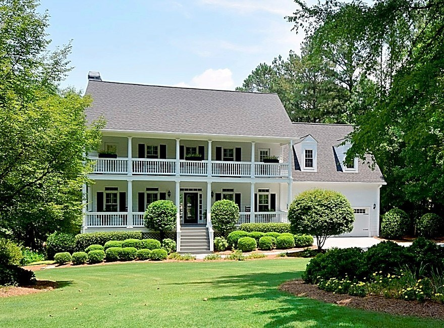 Immaculate southern Charleston-style lakefront home in Harbor Club on Lake Oconee.  Home is in absolute move-in condition.  Open floor plan with comfortable lake side enclosed porch for casual entertaining.  Main level great room and lower level family gathering area provide generous spaces for easy entertaining.