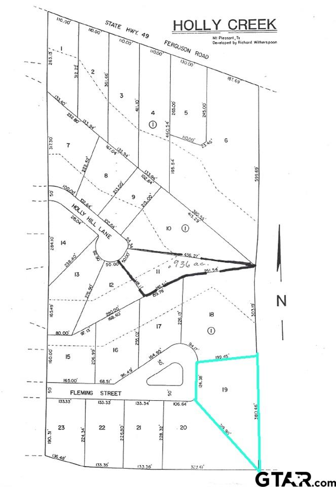 Lot 19 Holly Creek Addition, Mt Pleasant, TX 75455