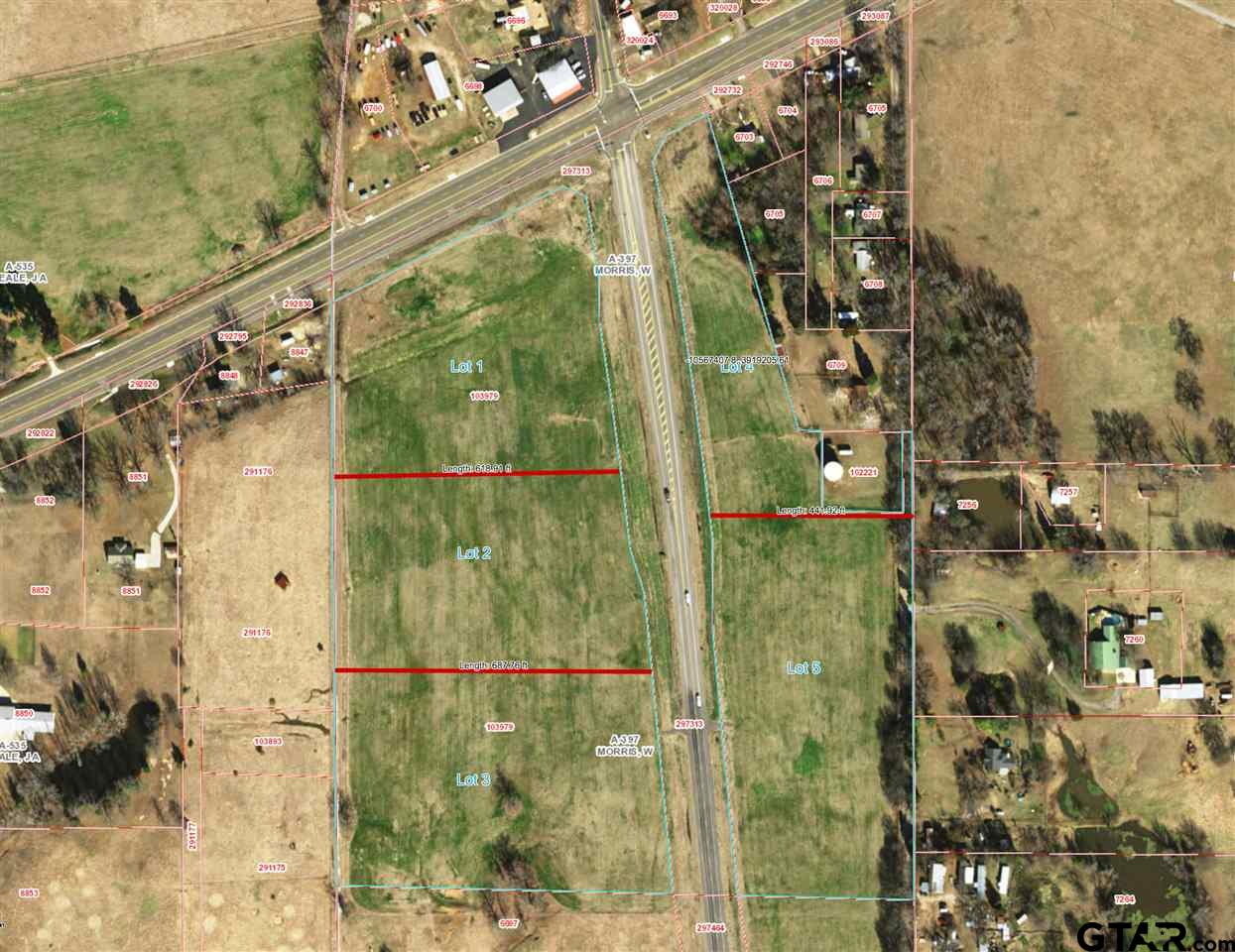 Lots 1-5. Looking for your next business endeavor? This is the perfect location to start or relocate any business. This package is for the purchase of the entire property, lots 1-5, approximately 32 acres. These properties have road frontage on both Hwy 67 & Hwy 2348. Give us a call today!