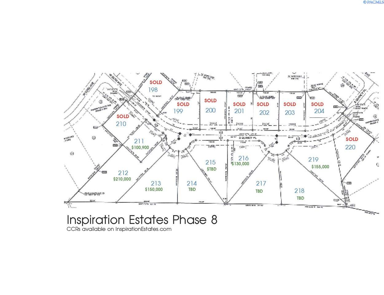 Land for Sale at IE LOT 219 PHASE VIII Kennewick, Washington 99337 United States