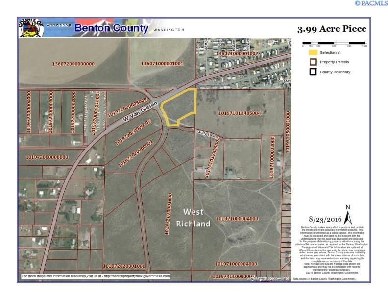 Great commercial location in growing area of West Richland.  This lot is right at the new intersection of Belmont and Van Geisen.  This is high traffic area and perfect for your business or investment properties.