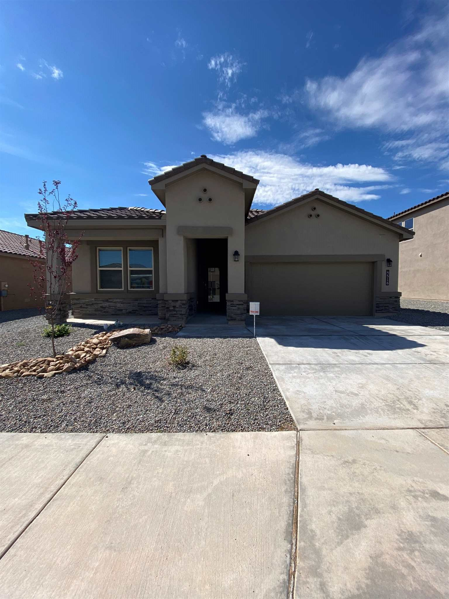 This gorgeous open concept single story home is a must see!  The sprawling kitchen gives the pickiest of chefs tons of cabinet and counter space.  The large kitchen island opens into the large family room.  Wall to wall tile covers the majority of this home with cozy carpet in the spacious bedrooms.  This brand new home provides modern construction, energy efficiency and comfort you can't miss!