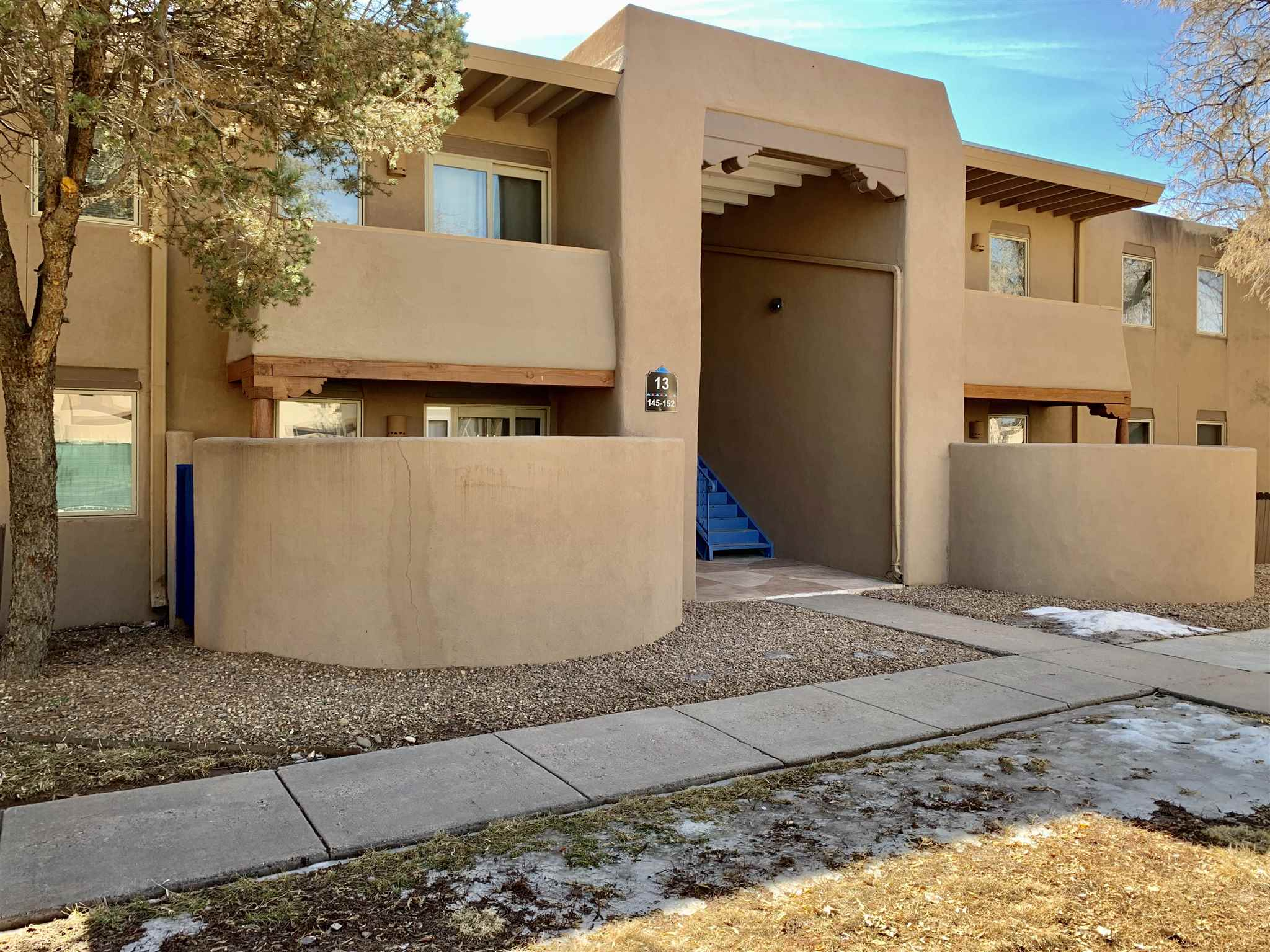 Wonderful investment opportunity to own 8 condo units in central Santa Fe. This block of 8 units offers four 2 bed/2 bath units and four 1 bed/1 bath units. Each unit offers granite slab countertops throughout, hickory cabinetry, in-unit washer & dryer, and jetted tubs in the master bath. The well appointed kitchens all have stainless steel appliances. Each unit features Pella windows & patio doors, and Rheem air conditioning. The first-floor units offer amply sized patio space. The upstairs units offer lovely balconies. San Mateo de Santa Fe offers many outstanding amenities to their owners and tenants that include a seasonally heated pool, fitness center, clubhouse with free wifi, basic dish TV, gated entrance, security, separate dog run, and BBQ gazebos throughout the 11.2 acre mature landscaped community. The property affords generous spacing between all buildings. Less than 10 minutes from the historic Santa Fe plaza, it provides easy accessibility to many of Santa Fe's conveniences such as Trader Joes, Whole Foods and Smiths. St Vincent's Hospital, the St Michaels corridor, and the rail trail bike/walking path are within minutes of this fabulous community. San Mateo offers onsite property management for an additional monthly fee.