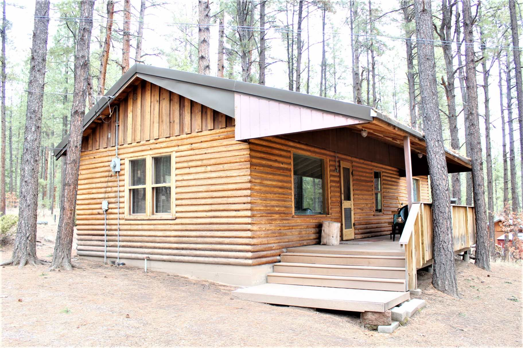 LEAVE THE CRAZINESS OF THE CITY BEHIND...come on up to the peace of the Jemez Mountains and start building memories today! Well maintained original Horseshoe Springs cabin with updates that include forced air heat and TREX deck! Desirable Horseshoe Springs is a delightful area with a well managed HOA to keep things well maintained. Community Water System so no well to worry with. HOA maintains roads and plows the snow in winter. This one won't last long so make a plan to come up soon!! Bring a picnic and make a day of it!! To maintain the friendly and neighborly charm and peace and quiet, HOA Covenants do not allow Airbnb or other short term rentals.