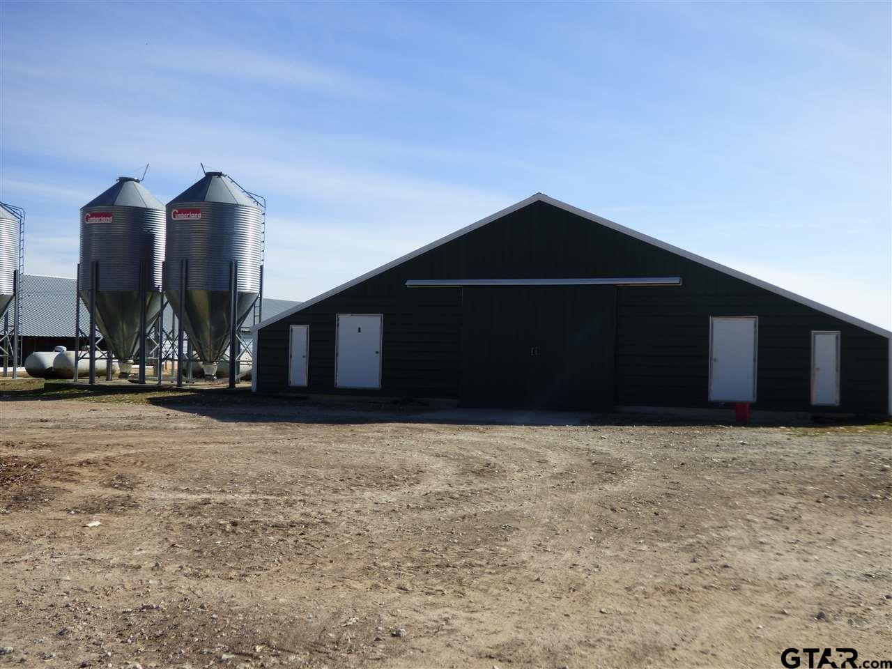 INCOME PRODUCING POULTRY FARM. FARM HAS 6/500 FT POULTRY HOUSES .  THIS FARM WAS BUILT IN 2004, has 25 acres.  THE FARM FEATURES 6/ 500 FT STEEL HOUSES AS WELL AS AN INSULATED SHOP AND INCINERATOR. THIS FARM IS WELL MAINTAINED.  THERE ARE 2/ 500+ FT WELLS.  CUMBERLAND FEEDERS, PLASSON WATER, AND LB WHITE BROODERS.  BUYERS MUST BE APPROVED AS A GROWER THROUGH PILGRIMS AND BE PRE-APPROVED FOR FINANCING.