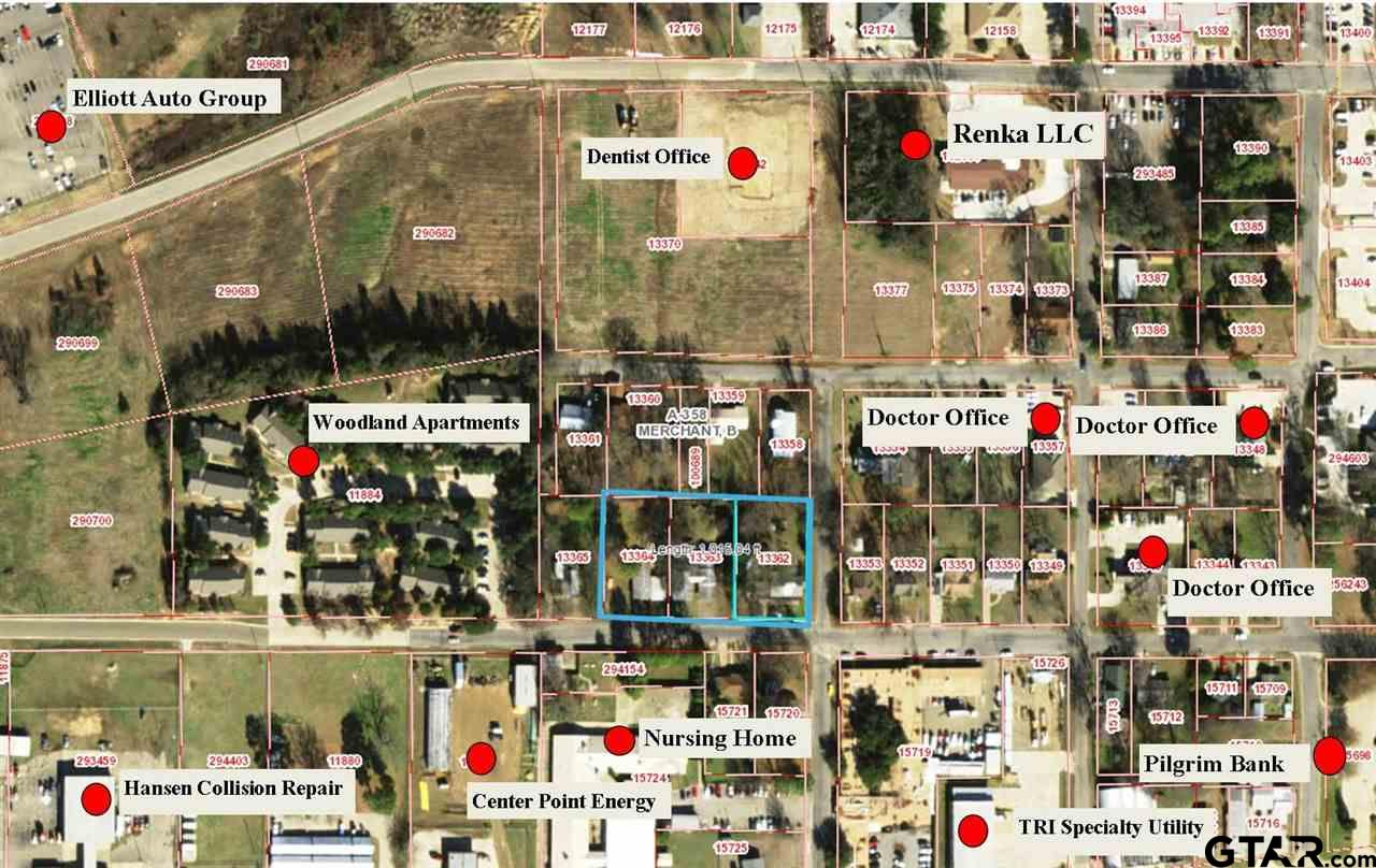 Potential for more! Corner lot in the Medical District only 3 blocks from Titus Regional Medical Center. There are many possibilities for this 1.33 acre corner parcel. Great for a future development or rental investment. The 3 homes have a rental income of $1590 a month. Call today for your tour!