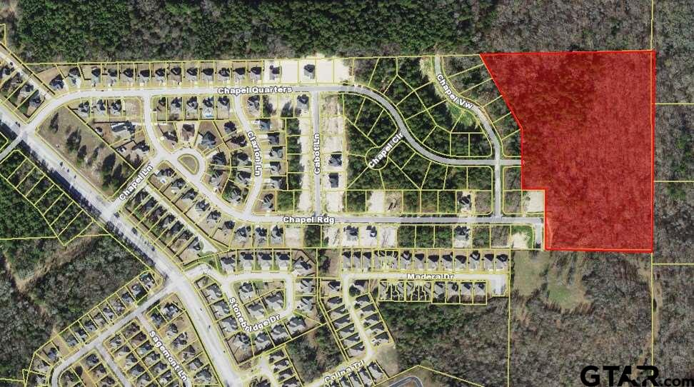 Over 16 acres available and ready for development in Chapel Woods Subdivision.