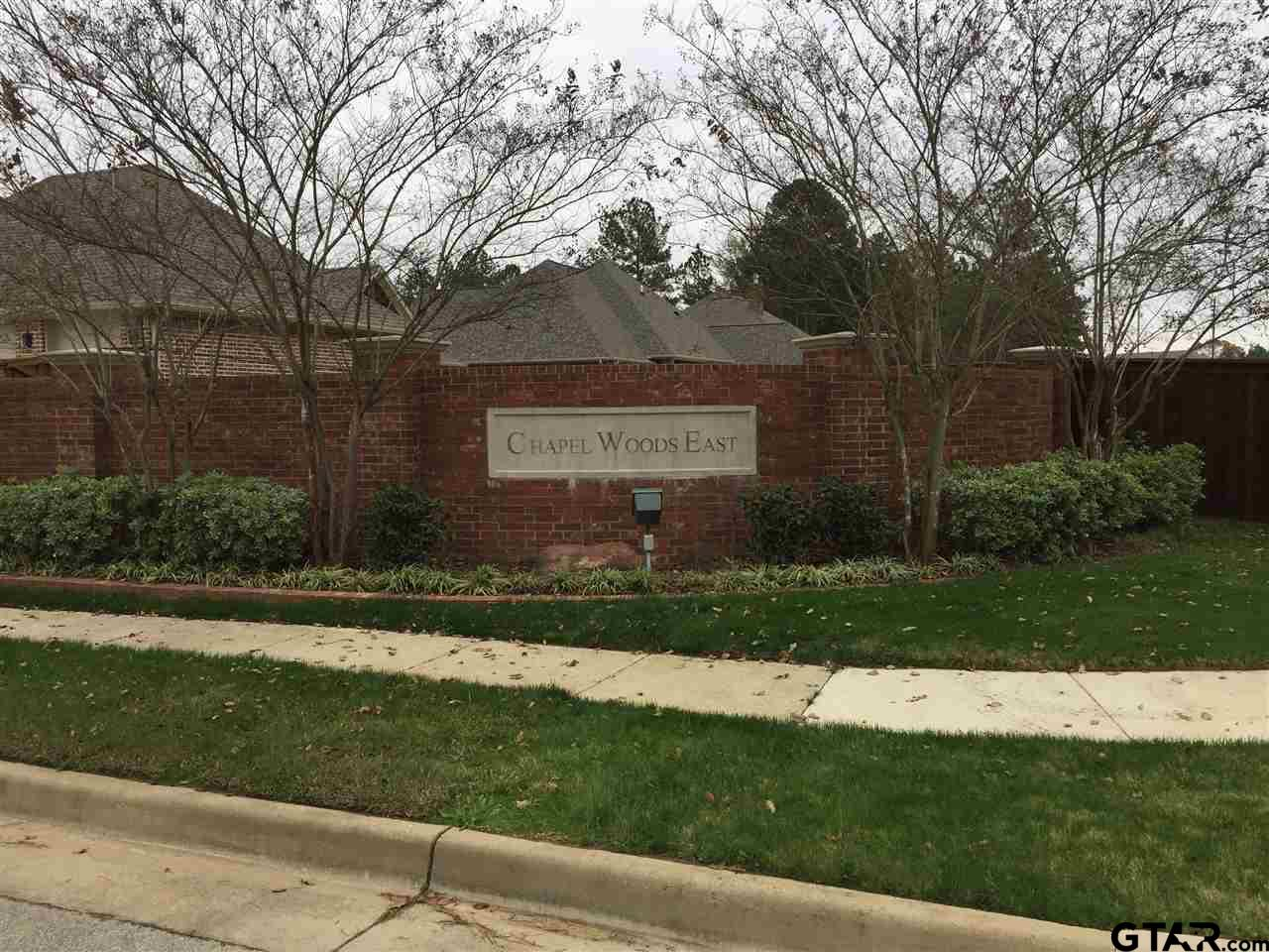 LOTS FOR SALE. Build the Custom Home you have always talked about. Chapel Woods East is close to UT Tyler and Convenient Access to Loop 323. Old Omen Rd. has been updated with landscaped medians, side walks, bike lanes and street lights creating a warm welcome to your new home.